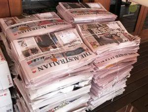 Unsold newspaper returns